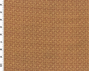 Rust Brown Basket Texture Print Home Decorating Fabric, Fabric By The Yard
