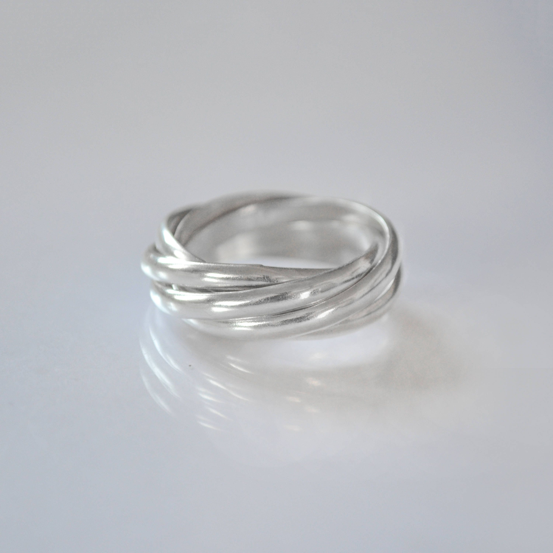Interlocking Rings Russian Ring Russian Wedding Ring
