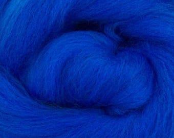 Royal Blue Merino Roving Wool 1/4oz,  1/2oz or 1 oz