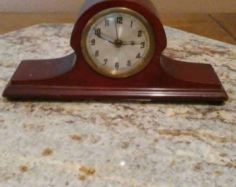 Rare antique mantle wind up alarm clock unknown maker