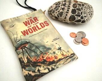 Vintage Book Wristlet War of the Worlds H.G. Wells