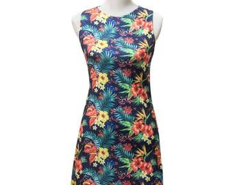 Tropical Dress, Hawaiian Dress, Hibiscus Dress, Tropical Floral Dress, Summer Floral Dress, Beach Wear, Beach Party Dress, Plant Dress