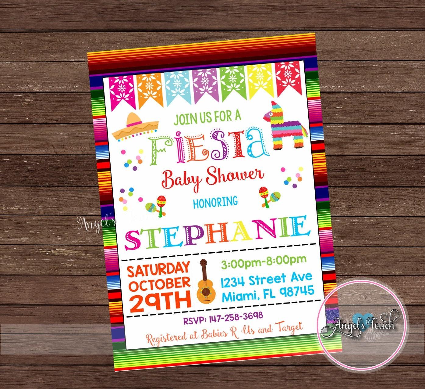 Fiesta Baby Shower Invitation, Fiesta Baby Shower, Fiesta Mexicana ...
