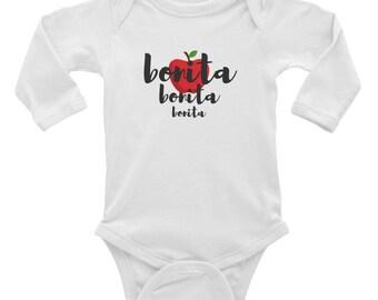 Bonita Infant Long Sleeve Bodysuit