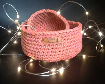 Duo basket rope crochet