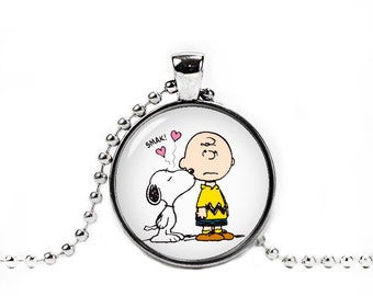 Snoopy and Charlie Brown Necklace with Pendant Snoopy Jewelry Snoopy Necklace
