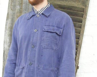 Denim jacket engineer trucker indigo blue japan hipster rockabilly chore work wear vintage style chest size 40 hdEbBmqc5