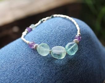 INTERNAL GLOW BRACELET - Karen Hill Tribe Silver - Fluorite Gemstones