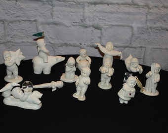 Lot of Vintage Department 56 Snowbabies Figurines - Excellent Condition - Collector's Special