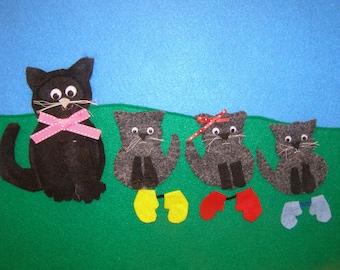 Three Little Kittens finger Puppets