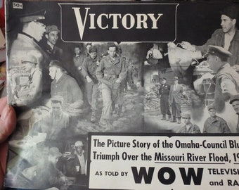 Victory-picture story of Omaha-Council Bluffs triumph over the missouri river flood 1952 -by WOW radio & Tv