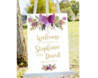 printable wedding sign, welcome to our wedding sign, Wedding welcome sign, wedding signs, large wedding sign, large welcome sign, PRINTABLE