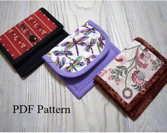 Gift Card Wallet, PDF Sewing Pattern for Gift Card Wallet, Gift Card Holder