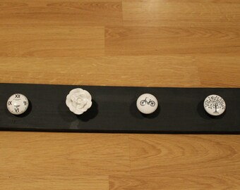 Black and White Scarf Rack or Jewelry Holder