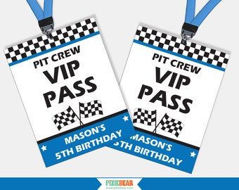 Race Car Party VIP Pass - Race Car Birthday VIP Passes - Race Car Party Favors - Race Car Birthday - Car Birthday (Instant Download)