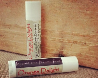 Orange Delight All Natural Lip Balm