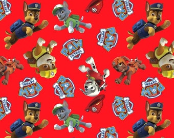 Paw Patrol Fabric Toss From David Textiles 100% Cotton