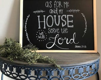 As For Me And My House...Joshua 24:15