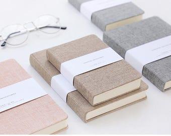 72K Linen blank notebook,Fabric cover notebook,Journal,Diary,Sketchbook,Notepads