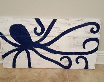 Octopus Wood Sign