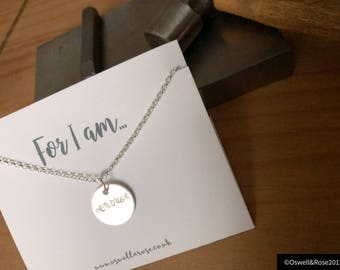 For i am enough necklace
