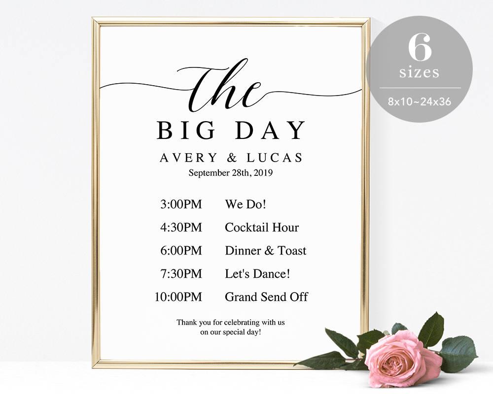 Wedding Timeline Sign Template Program