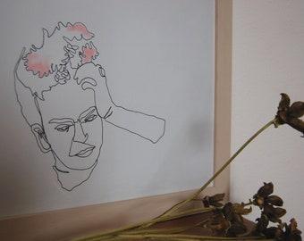 Frida Khalo in a line