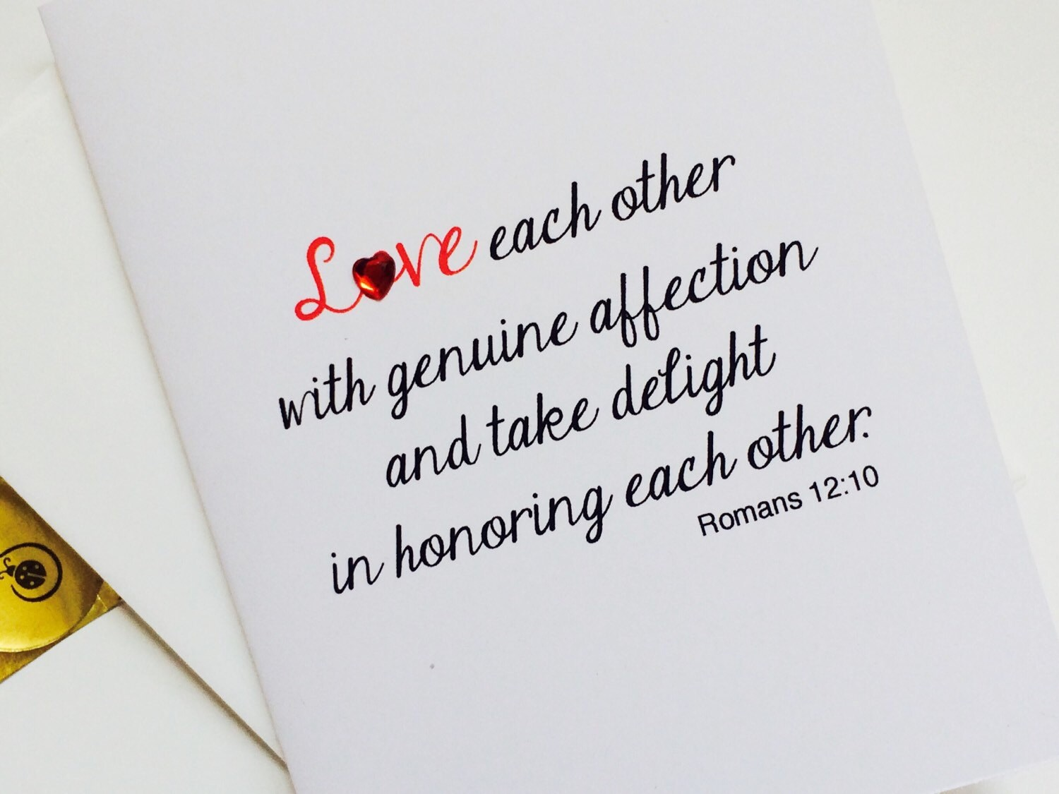 Christian anniversary card romans 12 10 love eachother with