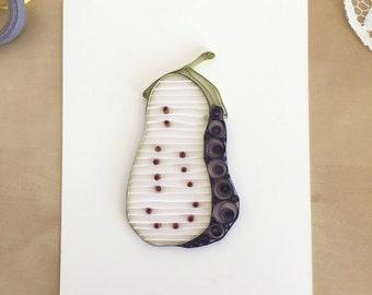 Quilling Paper Purple Eggplant Home Decor, Eggplant Kitchen Accessories, Vegetable Wall Art, Vegetable Artwork, Kitchen Garden Design