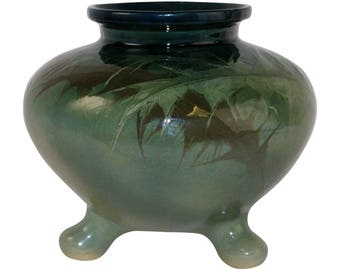 Denver Pottery Lonhuda Thistle Three Footed Vase