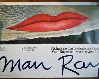 Rare MAN RAY lips poster (1983)