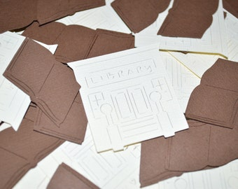 Library + Book Confetti | 100 or 200 Pieces | Librarian Party | Book Club | Reading Club
