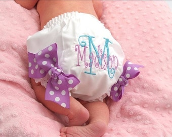Personalized Diaper Cover Embroidered Diaper Cover or Monogrammed Diaper Cover, Baby Girl Gift, Girl Baby Shower, Girl Baby Gift, Newborn