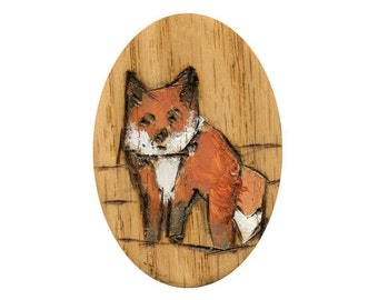 Fox Art Print, Fox Painting, Thepaintedgrove, wall art 5 x 7 inches