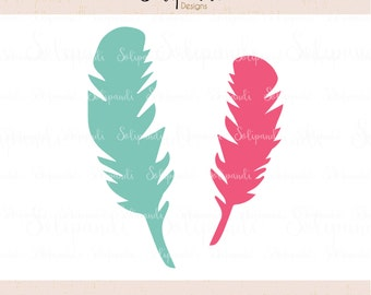 Feathers - SVG and DXF Cut Files - for Cricut, Silhouette, Die Cut Machines // scrapbooking // paper crafts // kids // #219
