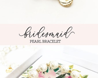 Bridesmaid Gift Bracelet Bridesmaid Proposal Bracelet Bridesmaid Bracelet Bridesmaid Jewelry Gift (EB3276M) Faux Pearl Bracelet