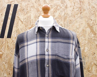 Vintage Woven Long Sleeved Checked Shirt Size - Extra Large