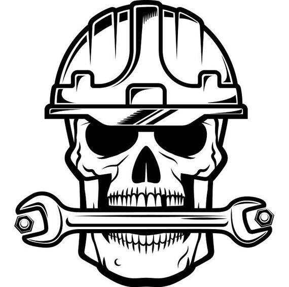 Construction Skull #1 Wrench Bolt Tool Toolbox Handyman