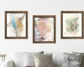 Abstract print set, bohemian wall art, printable art set, boho decor, set of 3 prints, abstract wall print, abstract art, set of 3 wall art