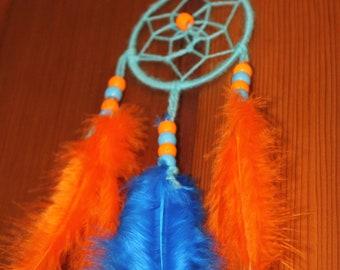 orange and blue dream catcher