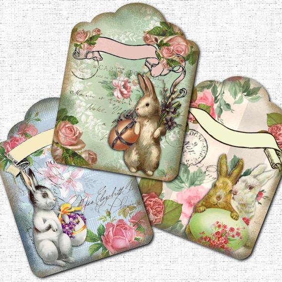 Easter gift tags vintage bunny printable instant download from easter gift tags vintage bunny printable instant download from partyeverafter on etsy studio negle Choice Image