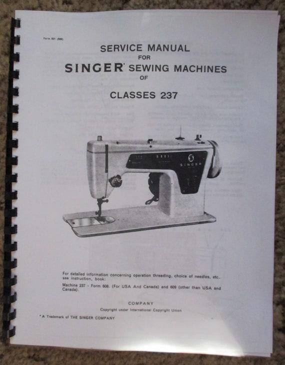 singer 237 machine coudre r paration service ajusteurs livre. Black Bedroom Furniture Sets. Home Design Ideas