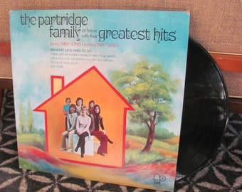 """Vintage 70's """"The Partridge Family at Home with Their Greatest Hits"""" Vinyl Record Album - 1972 - Shirley Jones - David Cassidy - 70's TV"""