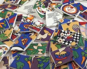 67 Vintage Sue Zipkin 1994 Broken China Mosaic Tiles