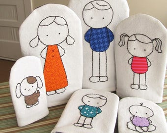 Nesting Dolls Sewing Pattern - Hand Puppets Sewing Pattern