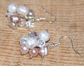 Freshwater Pearl Drop Earrings, Pearl Earrings, Gifts for Her, Wedding Jewellery, Beaded Jewellery, Bridesmaid Earrings, Mothers Day Gift