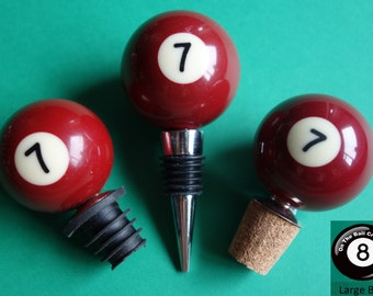 Number 7 Pool/Billiard Ball Wine Bottle Stopper