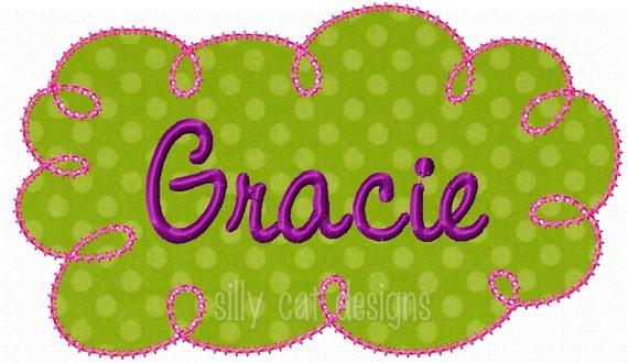"Basic ""Star""  Frame Applique  Embroidery Design- NO FONT"