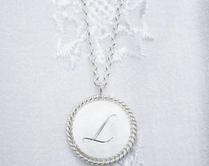 Personalized baptism medal - hand engraved - baptism gift - on order