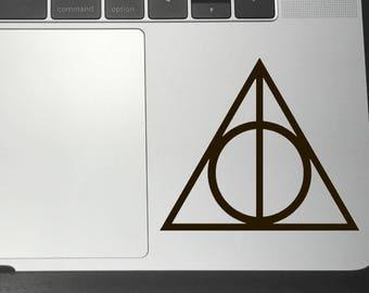 DEATHY HALLOWS Harry Potter Vinyl Decals/Stickers for Car Macbook iPhone iPad